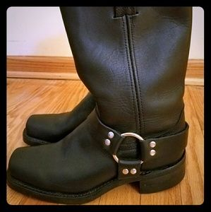 Frye Harness Boots - Black - Gently Used